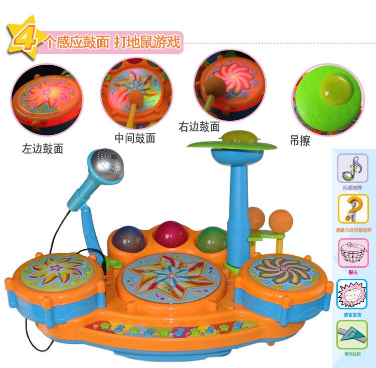 儿童益智拍拍鼓玩具